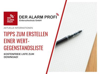 Stehlgutliste/Wertgegenstandsliste – Tipps Zur Erstellung Und Muster Als PDF Download
